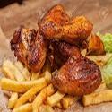 Alitas de pollo con papas