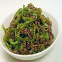 Beef with green peppers
