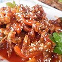 Pollo crujiente con salsa picante