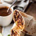 Beef Burrito with Roasted Bell Peppers