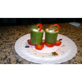 Cucumber with Lanza Cheese
