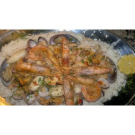 Seafood on Rice