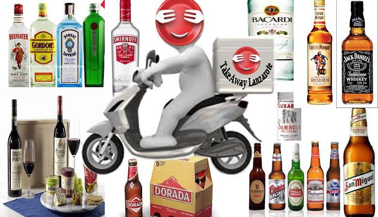 Bebida a Domicilio. Cervezas, vinos a domicilio. Comidas y bebidas para llevar - Lanzarote.