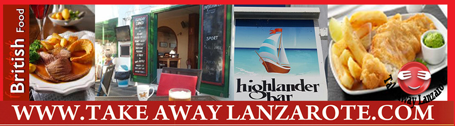 Highlander Too -  Takeaway Puerto del Carmen, Food delivery Lanzarote, Lanzarote, food Delivery Tias, Macher, Puerto Calero -Lanzarote