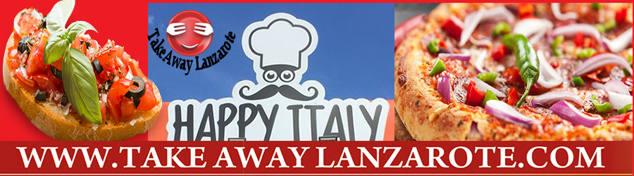 Happy Italy - Italian Restaurant Takeaway Puerto del Carmen, Food delivery Lanzarote, Lanzarote, food Delivery Lanzarote, food delivery Tias, Puerto CALERO, Macher