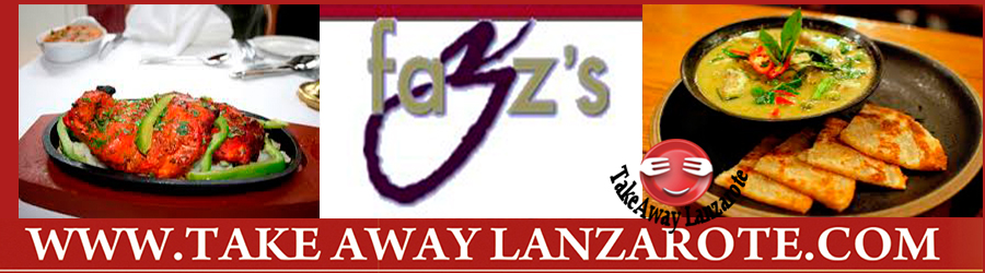 Indian Restaurant Lanzarote - Fazz's Indian Restaurant Lanzarote Food delivery & Pick Up -  Takeaway Puerto del Carmen, Food delivery Lanzarote, Lanzarote, food Delivery Tias, Macher, Puerto Calero -Lanzarote