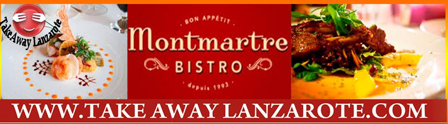 Montmartre French Restaurant  -  Takeaway Puerto del Carmen, Food delivery Lanzarote, Lanzarote, food Delivery Tias, Macher, Puerto Calero -Lanzarote