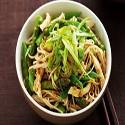 Japanese salad (lettuce,cucumber,prawns,seaweed and vegetables)