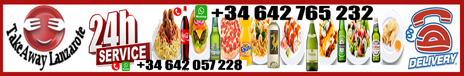 Takeaway Lanzarote Restaurant free delivery restaurant Lanzarote - food and drinks takeaway - Best Delivery Lanzarote - Selection of Best Restaurants with Delivery across Canary Islands Takeaway Lanzarote