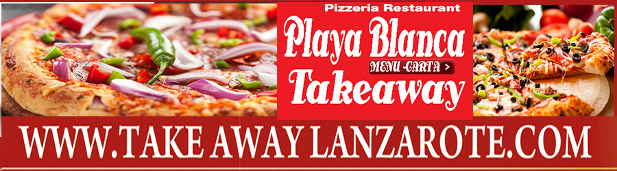 Pizza Takeaway Pizzeria Cappuccino, Takeaway Playa Blanca, Lanzarote, food Delivery Lanzarote, Yaiza