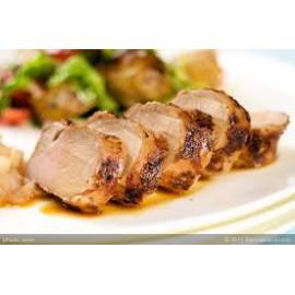 Pork fillet wine and garlic sauce