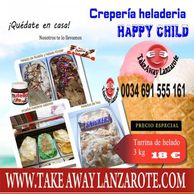 Ice Cream Happy Child Playa Blanca - Ice Cream Delivery Takeaway Lanzarote