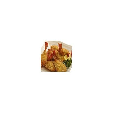 Gambas crujiente con chili y salsa agridulce