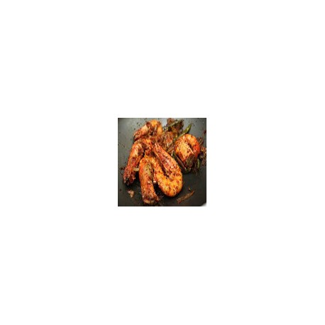 Gambas en salsa picante
