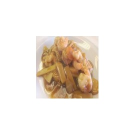 Prawns with bamboo shoots and Chinese Mushrooms