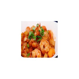 Prawns in sweet and sour sauce