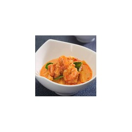 Gambas con curry rojo