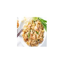 PhadThai(tallarines fritos picante con gambas,verduras y cacahuetes)