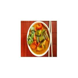 Verdura con curry rojo Thai