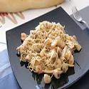 Fideo chino frito con gambas