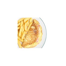 Omlette and Chips