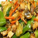 Pollo frito con Verduras