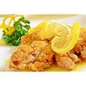 Pollo frito con salsa de limon