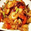 Langostinos con salsa Satay