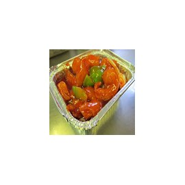 Langostinos con salsa agridulce