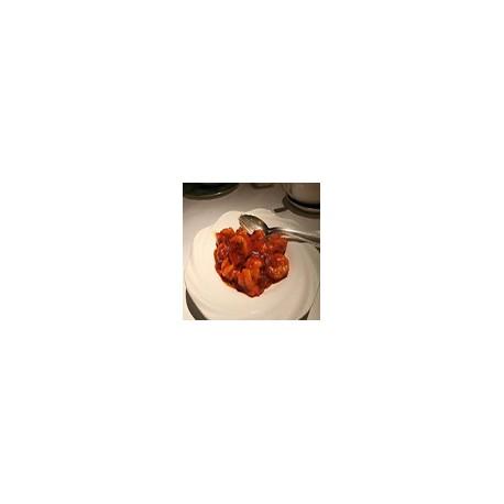 Langostinos con salsa barbacoa