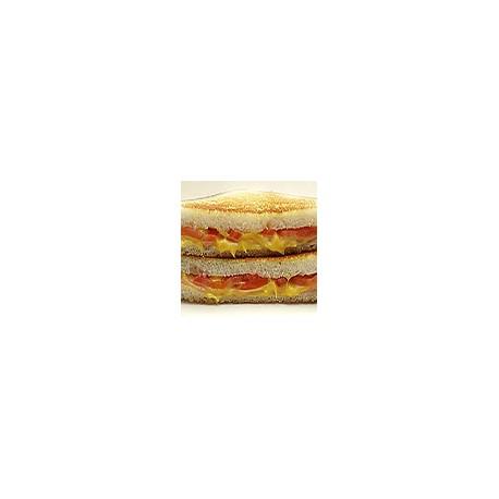 Iberian ham, cheese and tomato Toast