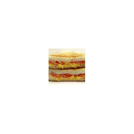 Tostada de jamon iberico,queso y tomate