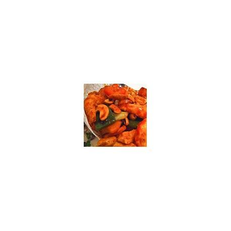 Kung-Po king prawn (sweet,sour,hot)