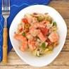Ensalada de Pulpo con Pimiento Verde ,Pimiento Rojo,Cebolla,Tomate y Gambas