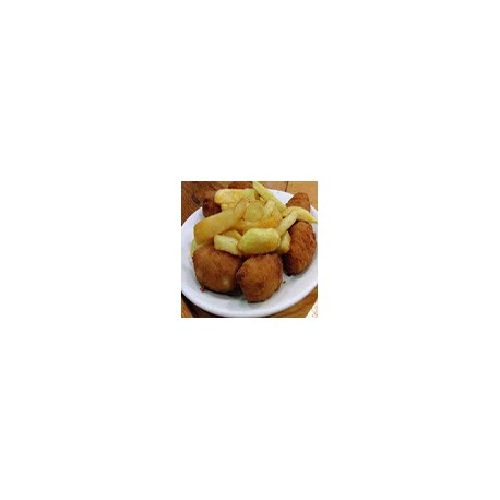 Mixed Croquettes and chips
