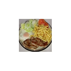 Pork Loin with Salad and Chips