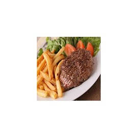 Beef Steak with Salad and Chips