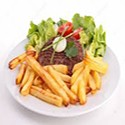 Sirloin Steak with Salad and Chips