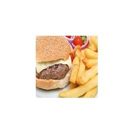 Hamburguesa con queso y fritas