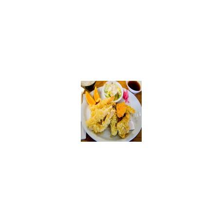 Tempura mixta (langostinos,pescados y verdura )