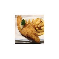 Pescado local (haddock) y patatas fritas