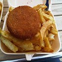 Fishcake and chips