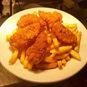 Southern fried chicken goujons and chips