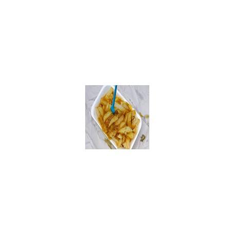 Curry de pollo casero y papas