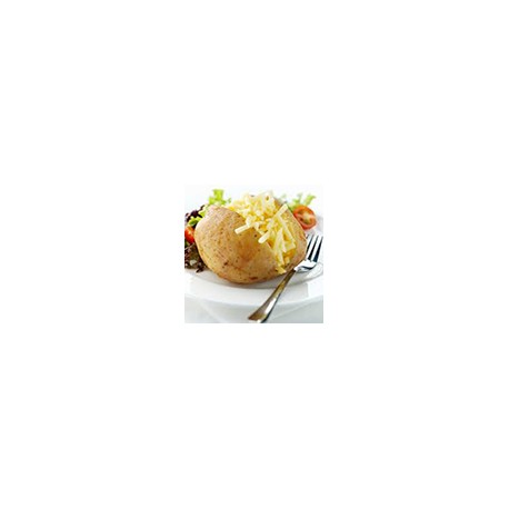 Patata al horno con relleno de queso