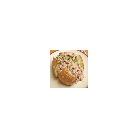 Patata al horno con relleno de atun