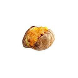 Patata al horno con relleno de curry de pollo