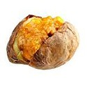 Jacket potato with home made chicken curry filling