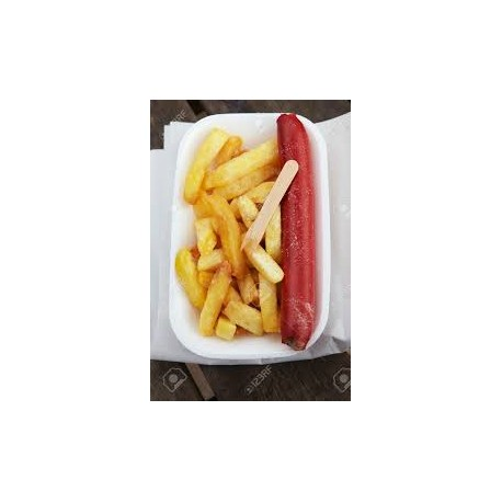 Saveloy and Chips