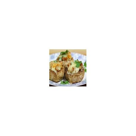 Champinones Rellenos de Queso Roquefort